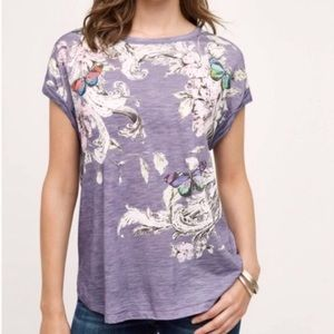 Anthropologie Postmark  banter butterfly tee shirt